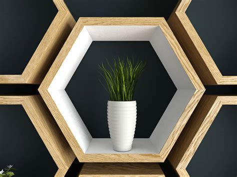 honeycomb wall shelf 400 forazhouse