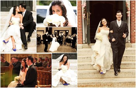 beautiful in white strapless wedding dress blue