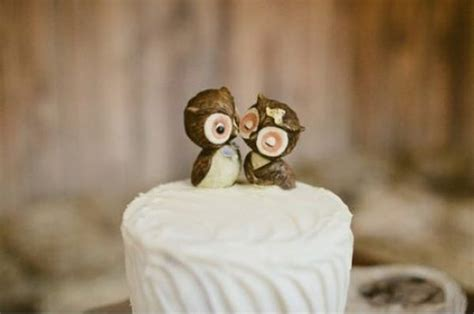 owl toppers unique wedding cake toppers weddingbells