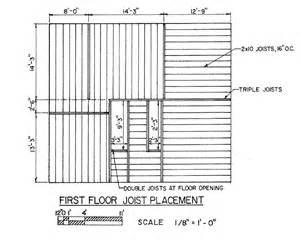 floor joist plan floor joist layout saltbox house plan