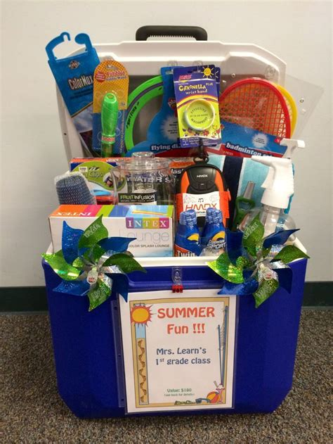 themed gift basket ideas for auction silent auction quot basket quot for school fundraiser using ice