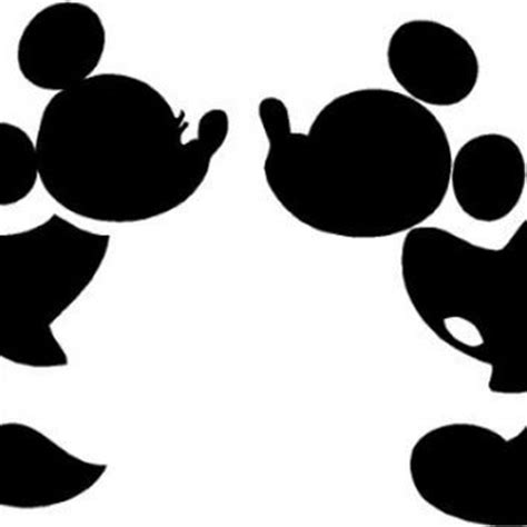 Bathroom Wall Stickers Amazon Mickey And Minnie Kissing Silhouette Cute From Amazon New