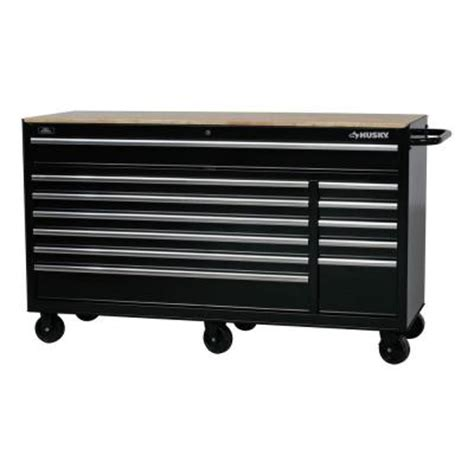 husky bench husky 66 in w 24 in d 12 drawer heavy duty mobile