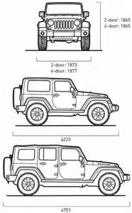 Jeep Wrangler Unlimited Dimensions Jeep Wrangler Dimensions