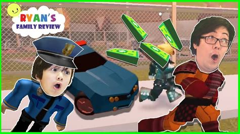 battle bounce police chase cars review roblox team officer battle let s play with s family review