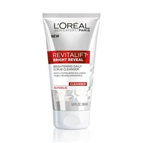 Poppy Dharsono Brightening Daily Cleanser the brand new revitalift bright reveal brightening daily scrub cleanser exfoliates with gentle
