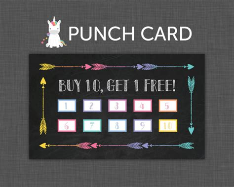 buy 10 get 1 free punch card templates custom card template 187 buy 10 get 1 free punch card