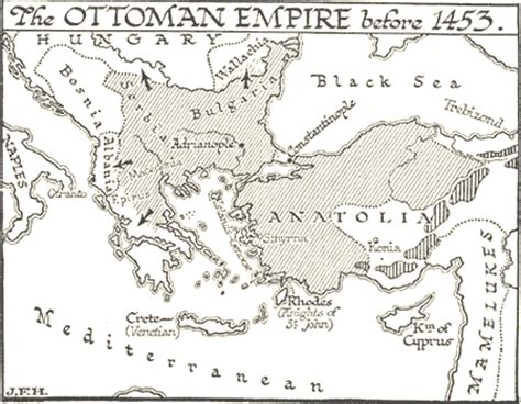 Ottoman Empire 1453 165 Ottoman Empire Before 1453 Map Illustration