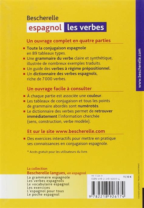bescherelle espagnol les verbes bescherelle espagnol les verbes en ligne