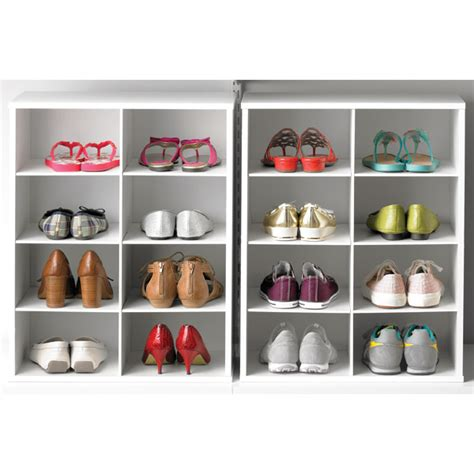 container store shoe storage 8 pair shoe organizer the container store