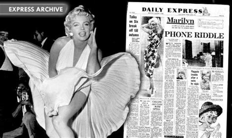 how did marylin monroe die how the daily express reported the death of marilyn monroe