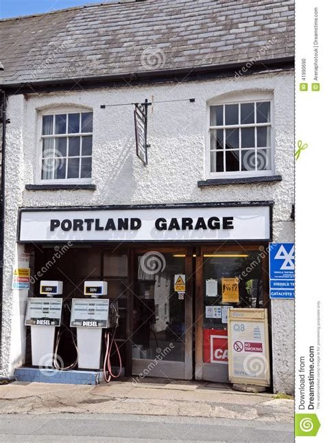 fashioned garage weobley editorial image image