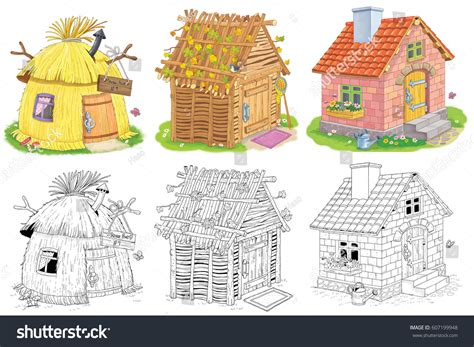 house of straw a book for on separation and divorce books three different houses straw hut stock illustration