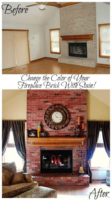 Change Color Of Brick Fireplace by Remodelaholic Update The Color Of Your Brick Stained
