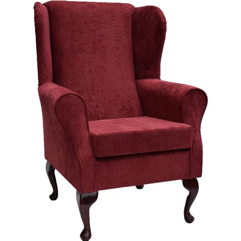 material wingback chair topaz fabric wing back orthopaedic fireside chair