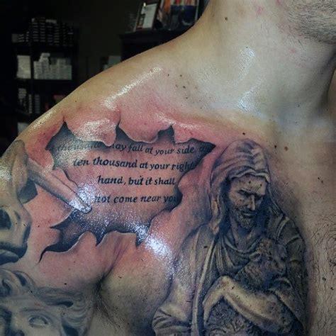 jesus tattoo scripture 50 bible verse tattoos for men scripture design ideas