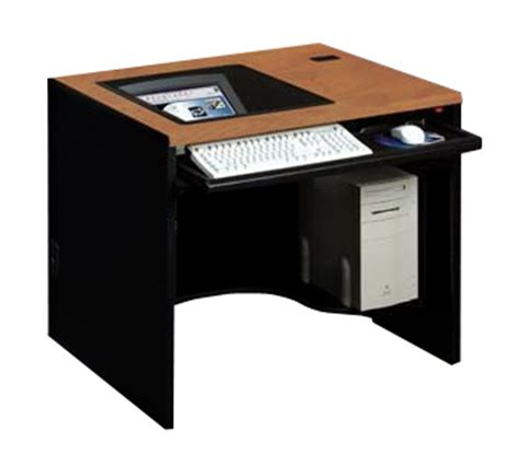 recessed monitor desks for rooms