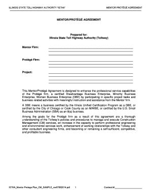 mentor protege agreement template fillable online mentor