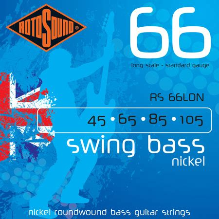 rotosound swing bass strings rotosound swing bass 66 nickel plated steel round wound