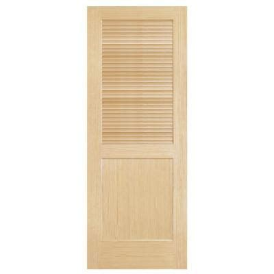 Home Depot Interior Slab Doors Steves Sons Louver Panel Solid Pine Interior Slab Door J64nlnnnac99 At The Home Depot