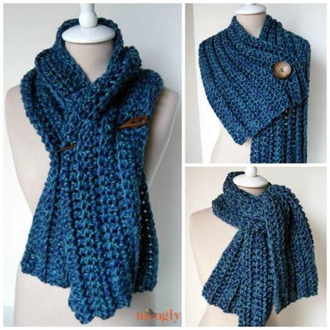 scarf pattern pinterest big rib scarf free pattern crochet scarves cowls