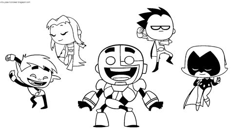 dibujos sin colorear dibujos de personajes de teen titans