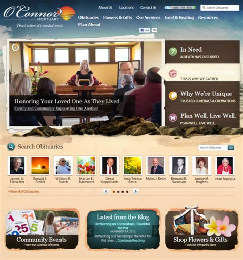 Funeral Home Website Design Driverlayer Search Engine Funeral Home Website Design