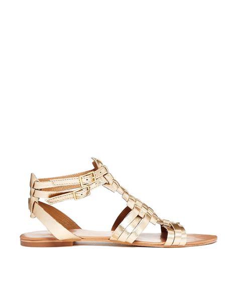 gladiator sandals gold faith faith gold flat gladiator sandals at asos