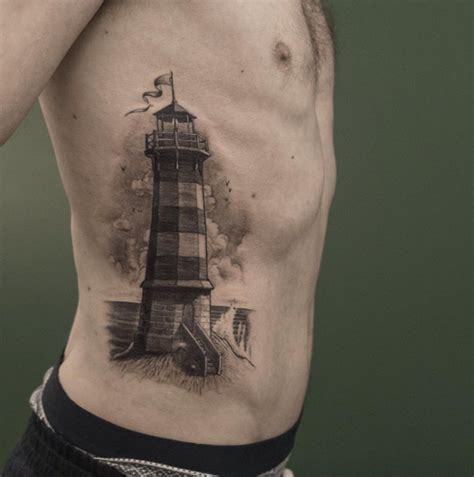 black and grey lighthouse tattoo 40 incredible lighthouse tattoo designs tattooblend