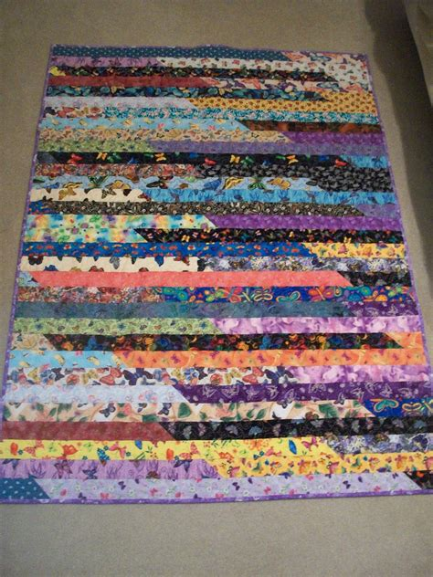 Quilting Jelly Roll by Debbie S Jelly Roll Race Quilt Finished
