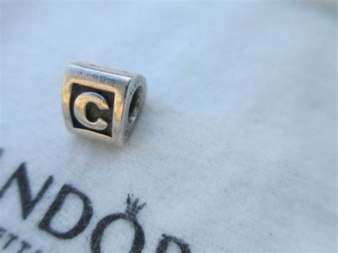 pandora alphabet authentic retired pandora letter c initial charm 790323c bead alphabet initials and