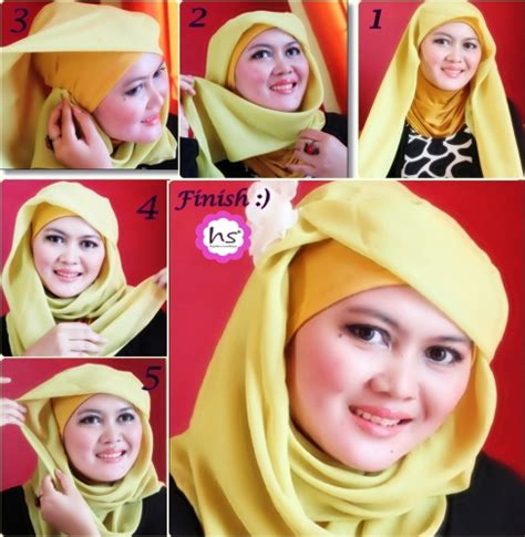 tutorial hijab pasmina simple elegant 25 tutorial hijab pashmina untuk wajah bulat yang simple