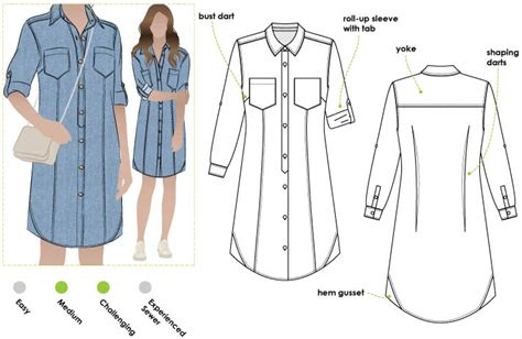 pattern shirt dress free italia shirt dress pdf style arc