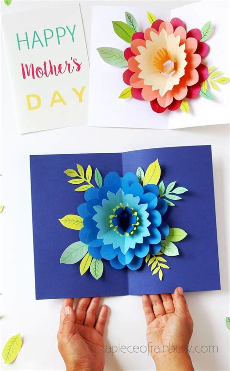 birthday pop up cards templates flower diy happy s day card with pop up flower new diy