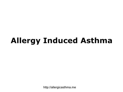 allergy induced asthma