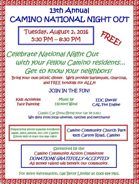 Ccac Calendar National Out 2016 Ccac Working Together For Camino
