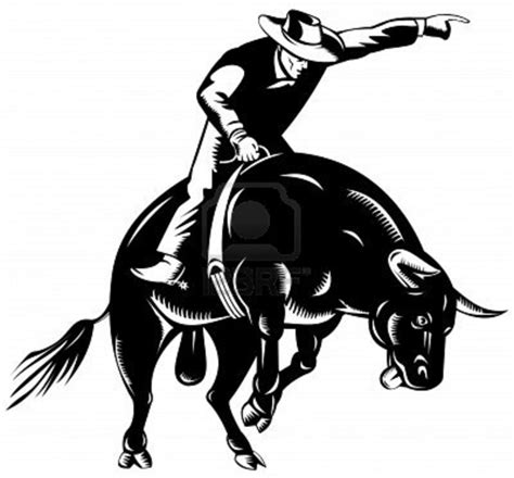bull riding free images at clker com vector clip art