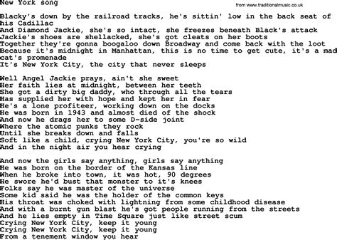 bruce springsteen song new york song lyrics