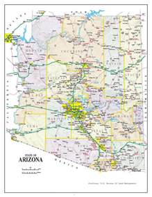 detailed arizona map