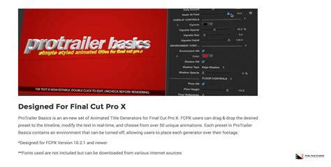 final cut pro trailer pixel film studios production team released protrailer