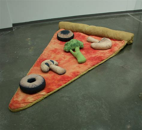 plain slice of pizza sleeping bag
