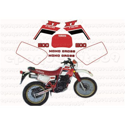 Sticker Yamaha 600 Xt by Autocollants Stickers Yamaha Xt 600 Annee 1986 Epoqueauto69
