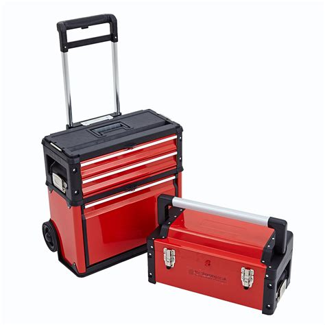 portable tool chest with drawers 3 in 1 trolley tool box set 4 drawers boxes storage