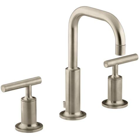 Kohler K 14406 4 BV Purist Vibrant Brushed Bronze Two Handle Widespread Bathroom Faucets