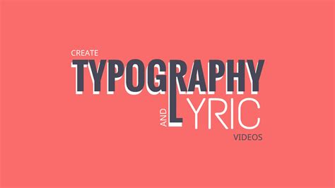typography creator lyric maker create lyric