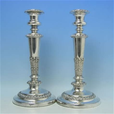 candlestick l english ms davis silver candlesticks