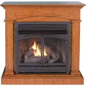 procom 45 in convertible vent free propane gas fireplace