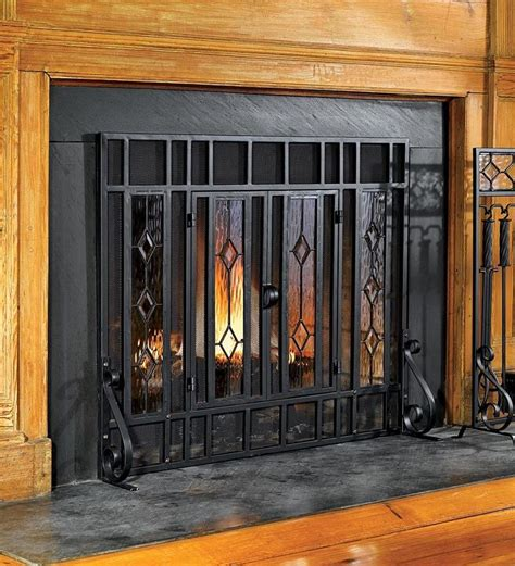 The 25 Best Glass Fireplace Screen Ideas On Pinterest Stained Glass Fireplace Doors