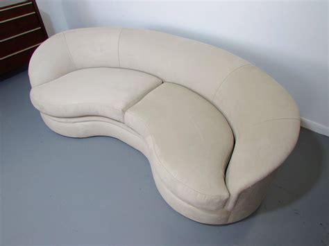 bean shaped sofa biomorphic kidney bean shaped sofa by vladimir kagan for