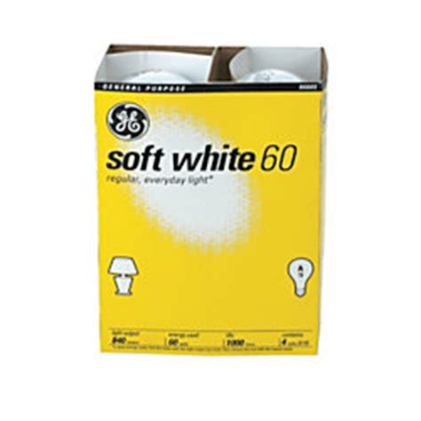 100 watt ge white incandescent light bulbs ge white incandescent light bulbs 60 watts pack of 4